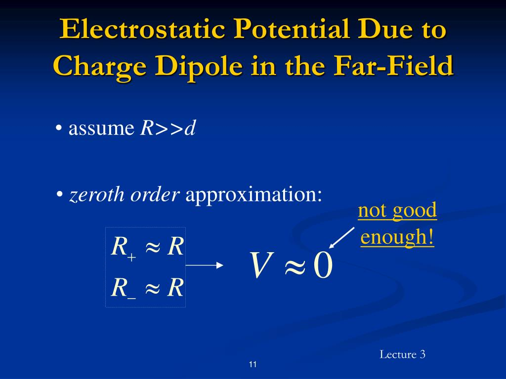 Electrostatic Potential Due to Charge Dipole in the Far-Field