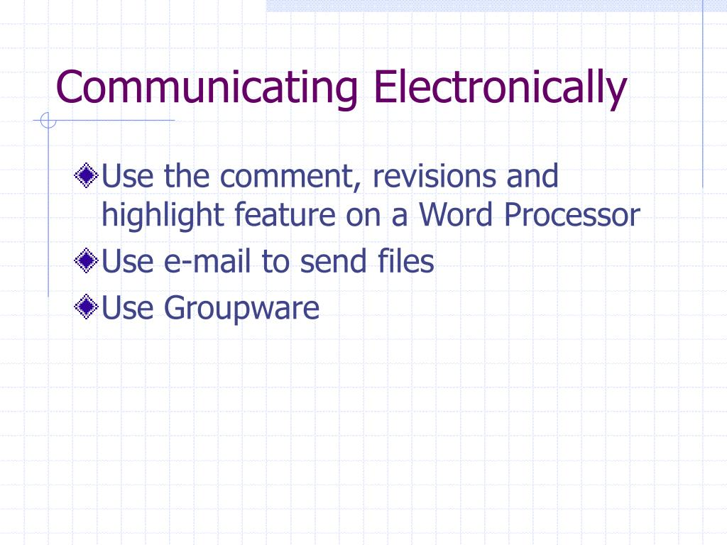 Communicating Electronically