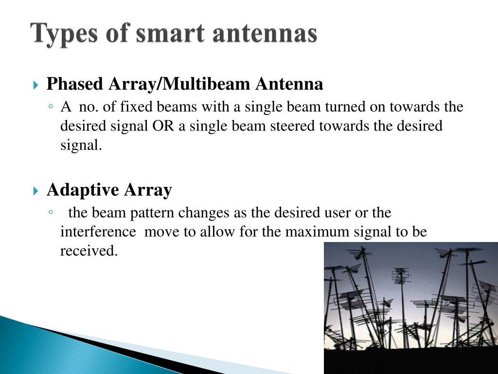 Types of smart antennas