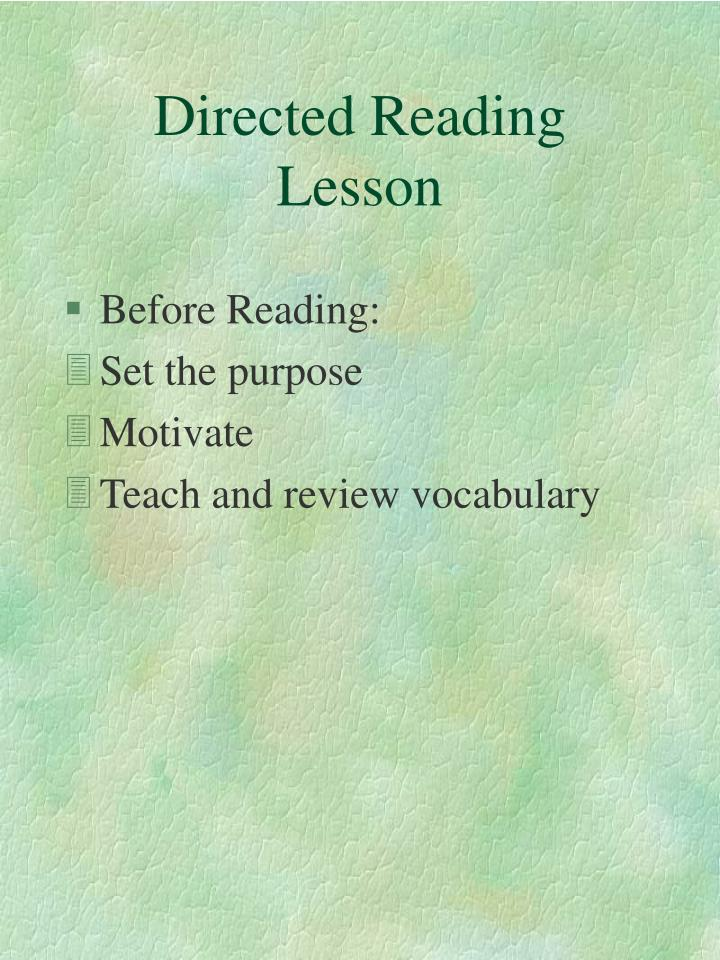 Directed reading lesson2
