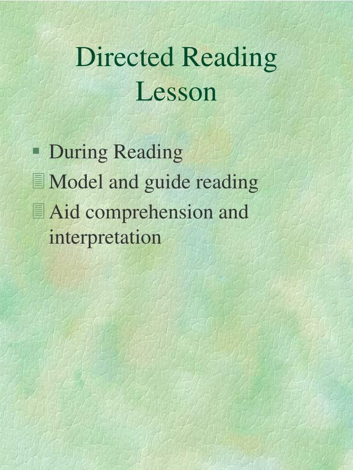 Directed reading lesson3