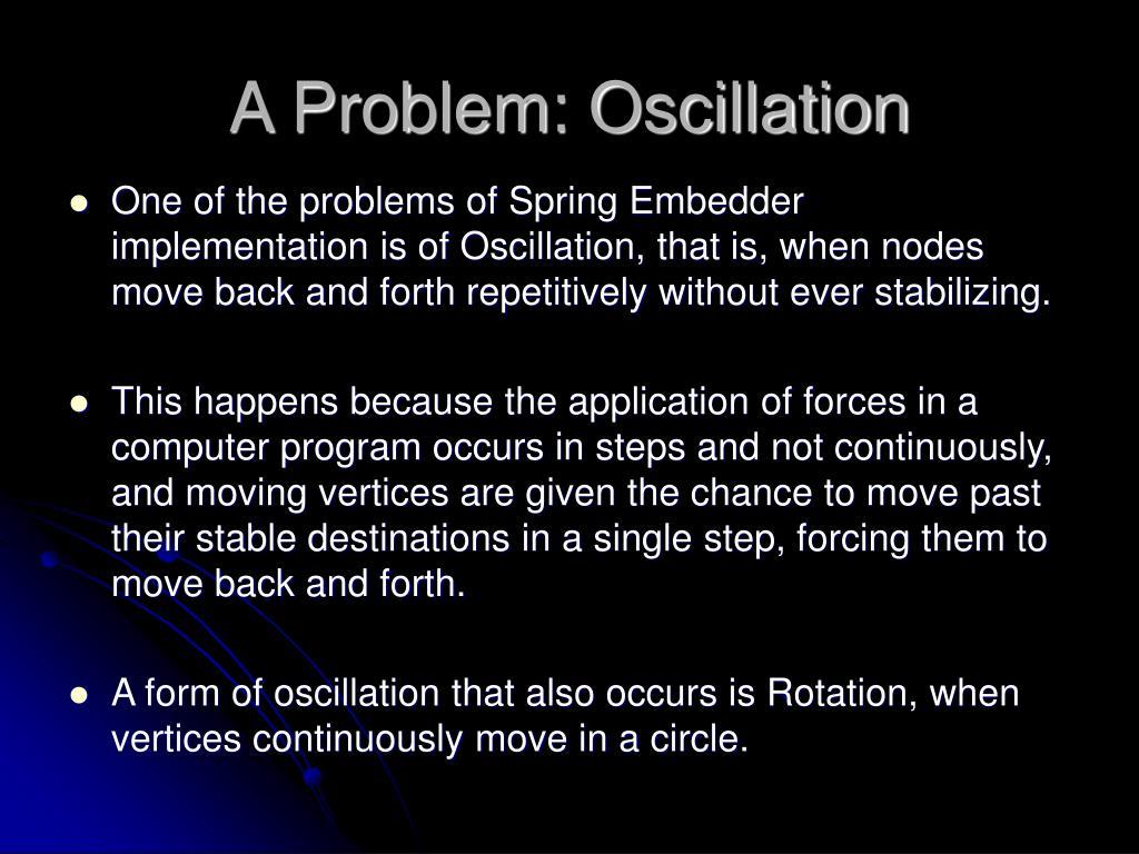 A Problem: Oscillation
