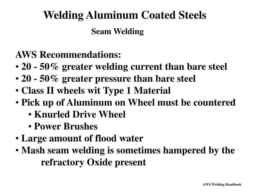 Welding Aluminum Coated Steels