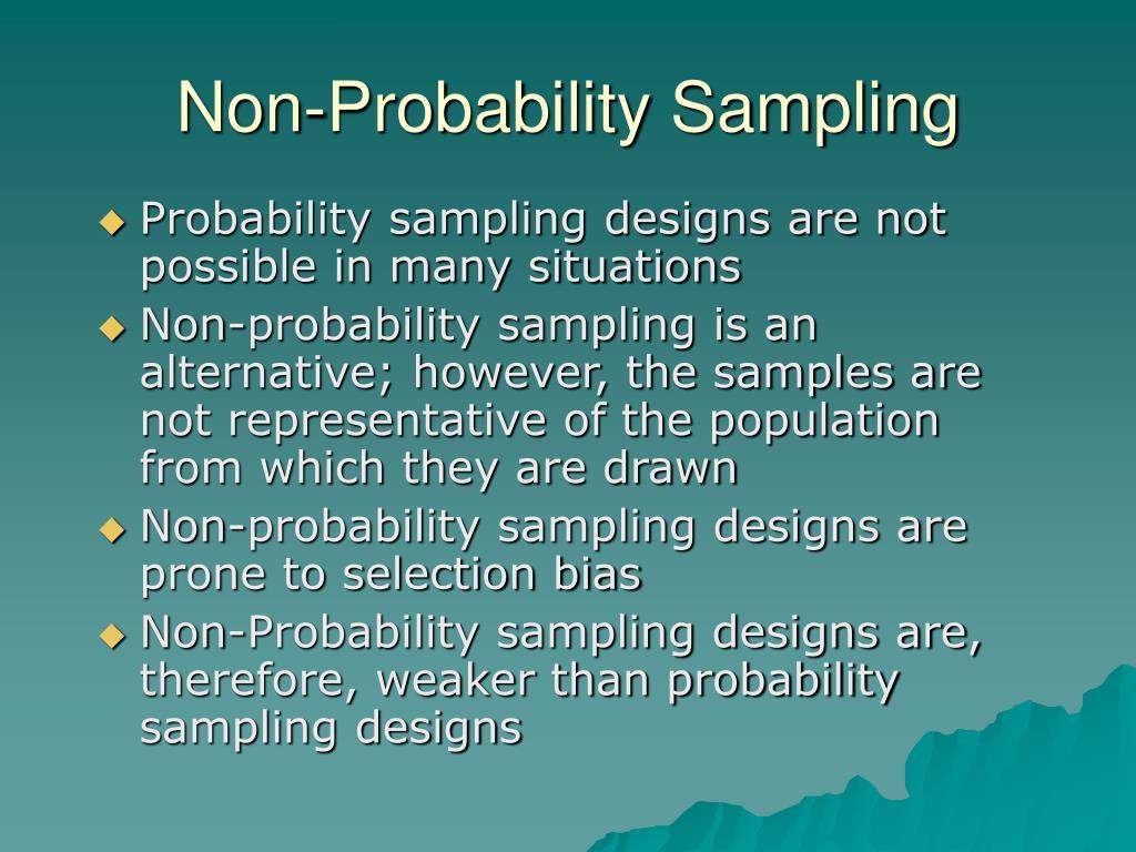 probability and nonprobability sampling pdf
