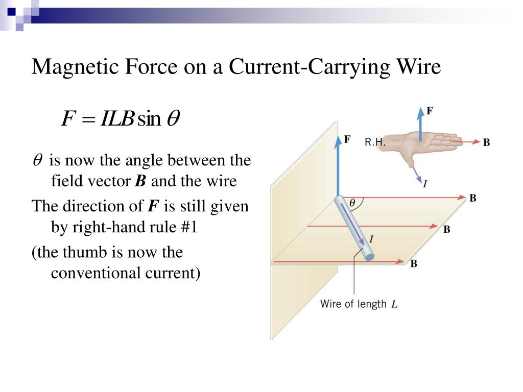 Magnetic Force on a Current-Carrying Wire