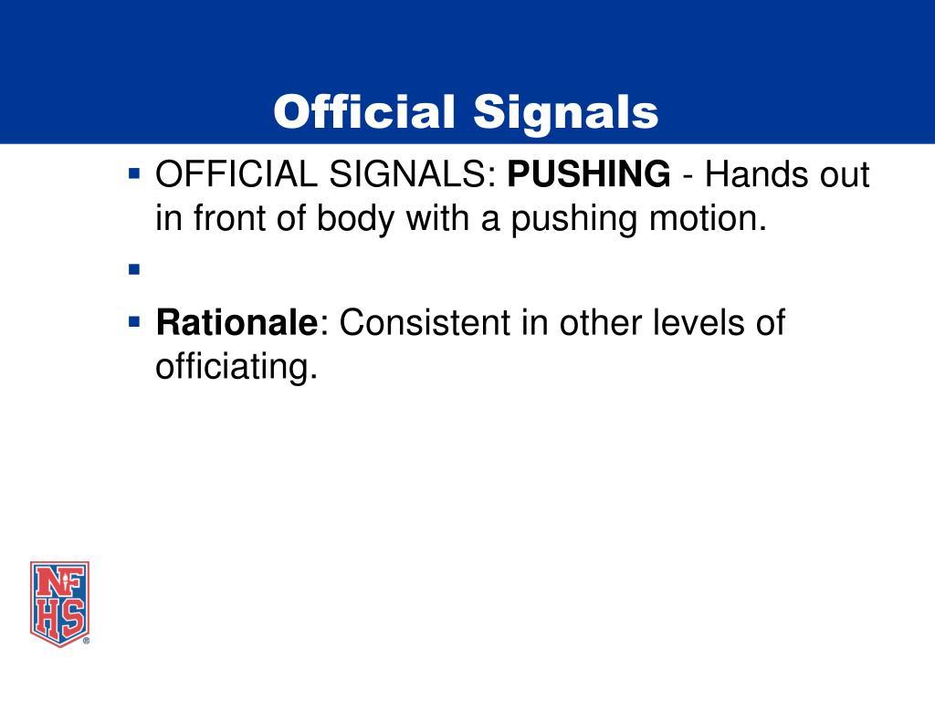 Official Signals