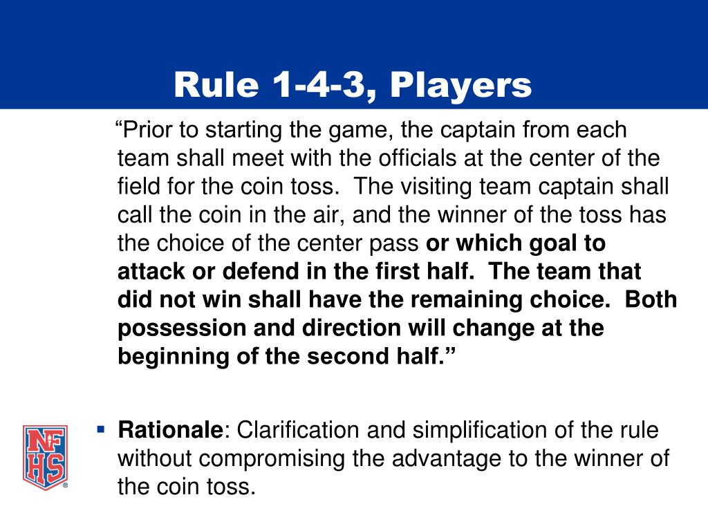 Rule 1-4-3, Players