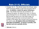 rule 2 1 5 officials