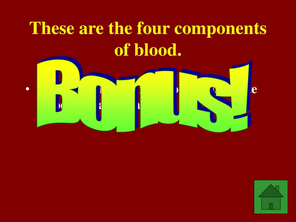 These are the four components of blood.