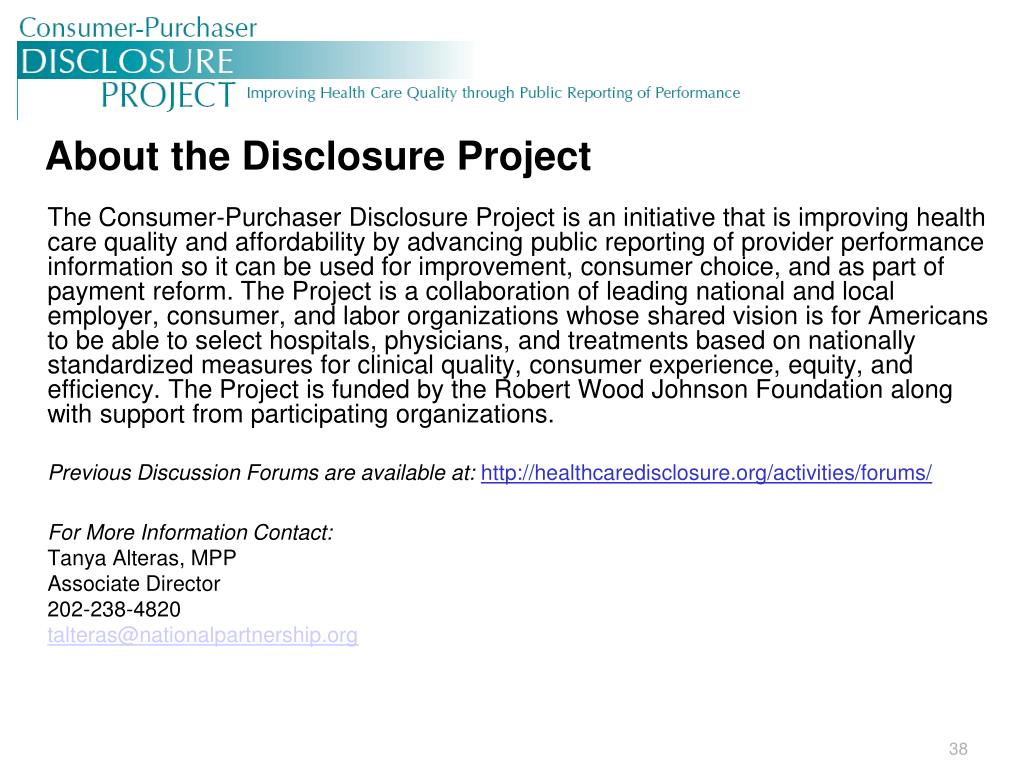 About the Disclosure Project