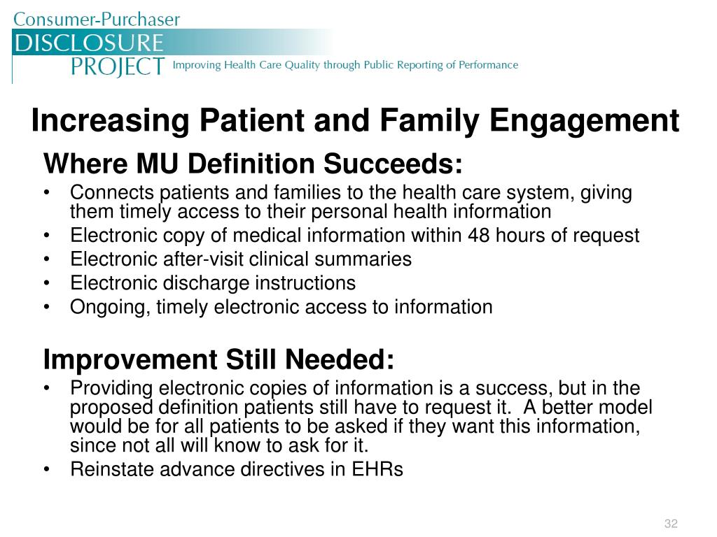 Increasing Patient and Family Engagement