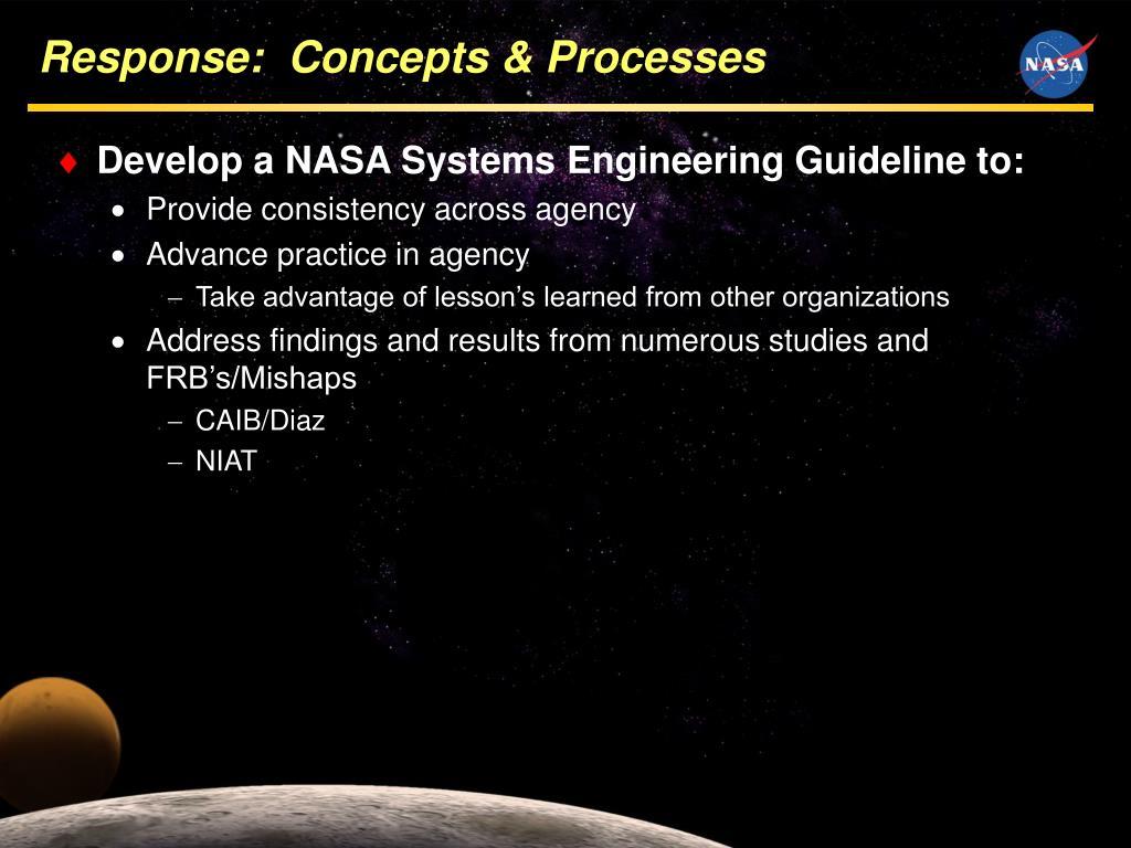 Response:  Concepts & Processes