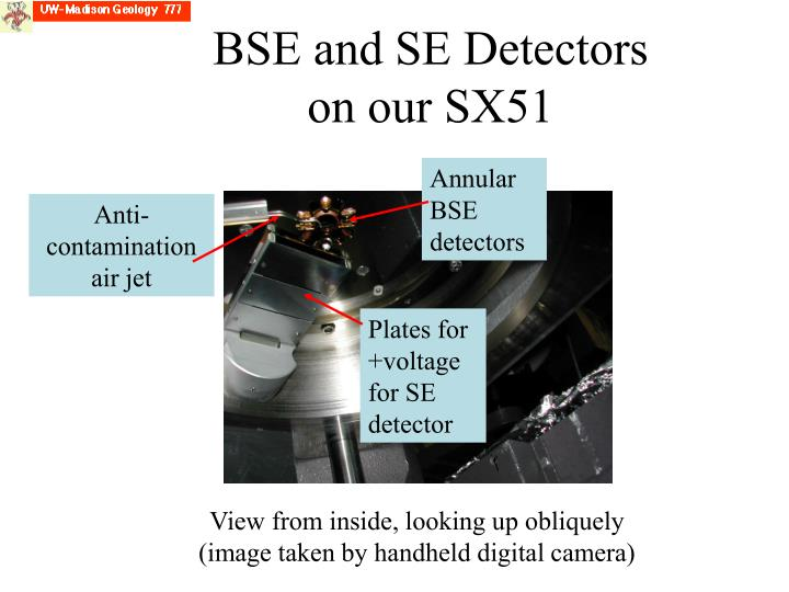BSE and SE Detectors on our SX51