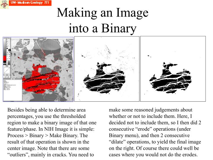 Making an Image into a Binary