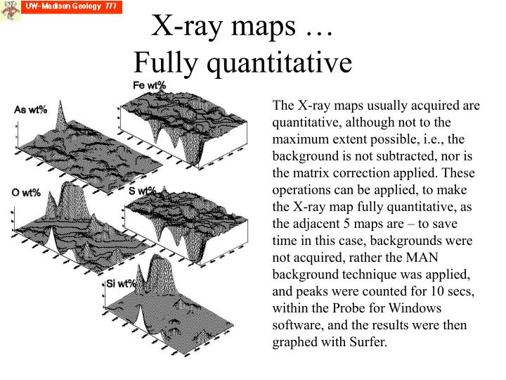 X-ray maps … Fully quantitative