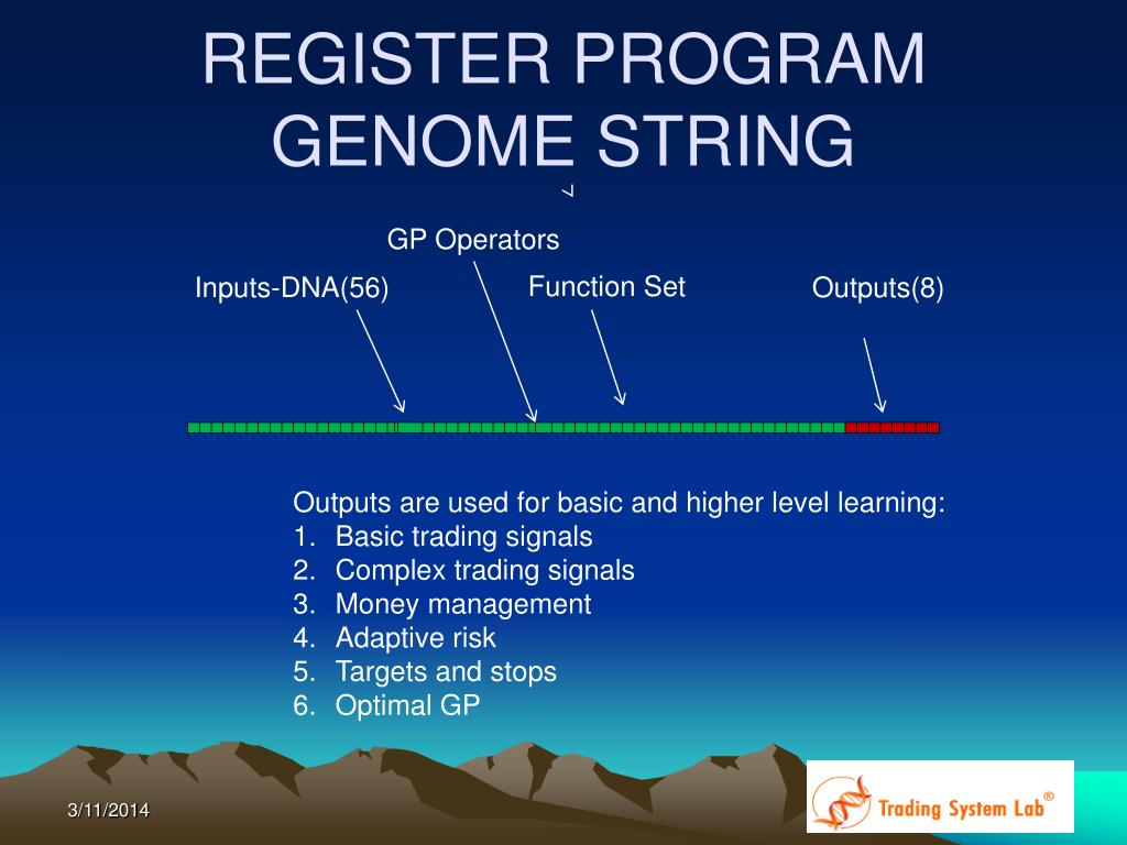 REGISTER PROGRAM GENOME STRING