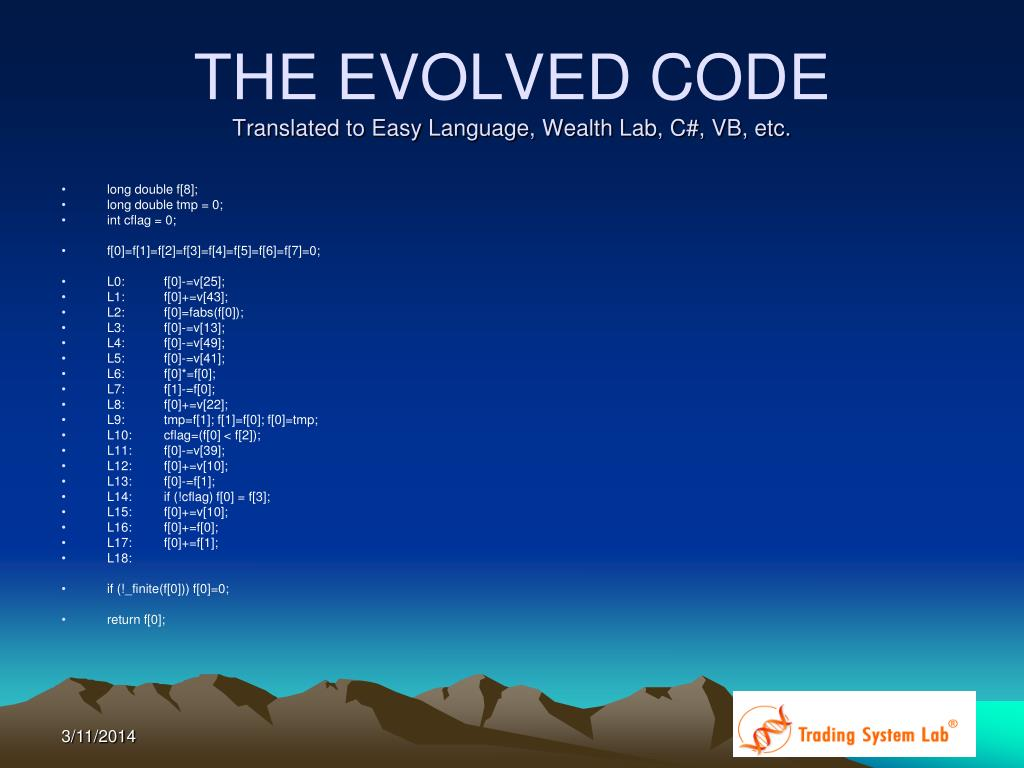 THE EVOLVED CODE