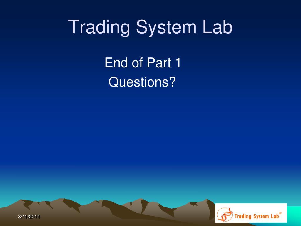 Trading System Lab