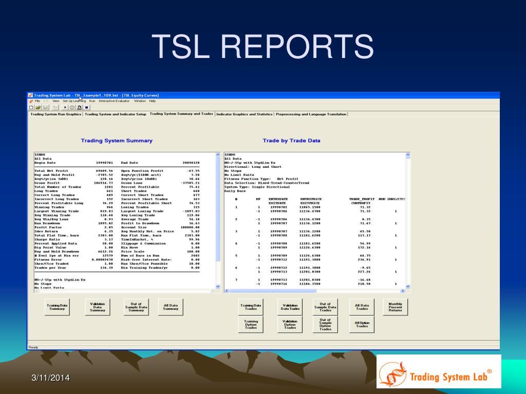 TSL REPORTS