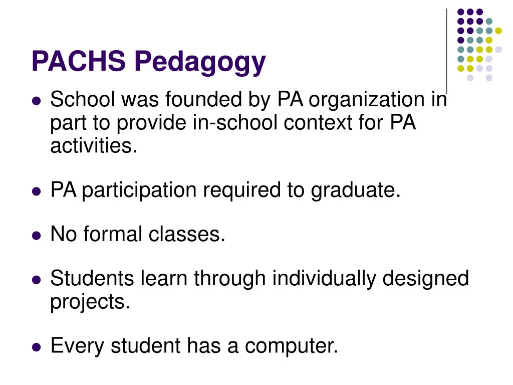 PACHS Pedagogy