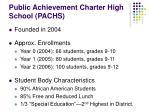 public achievement charter high school pachs
