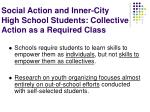 social action and inner city high school students collective action as a required class