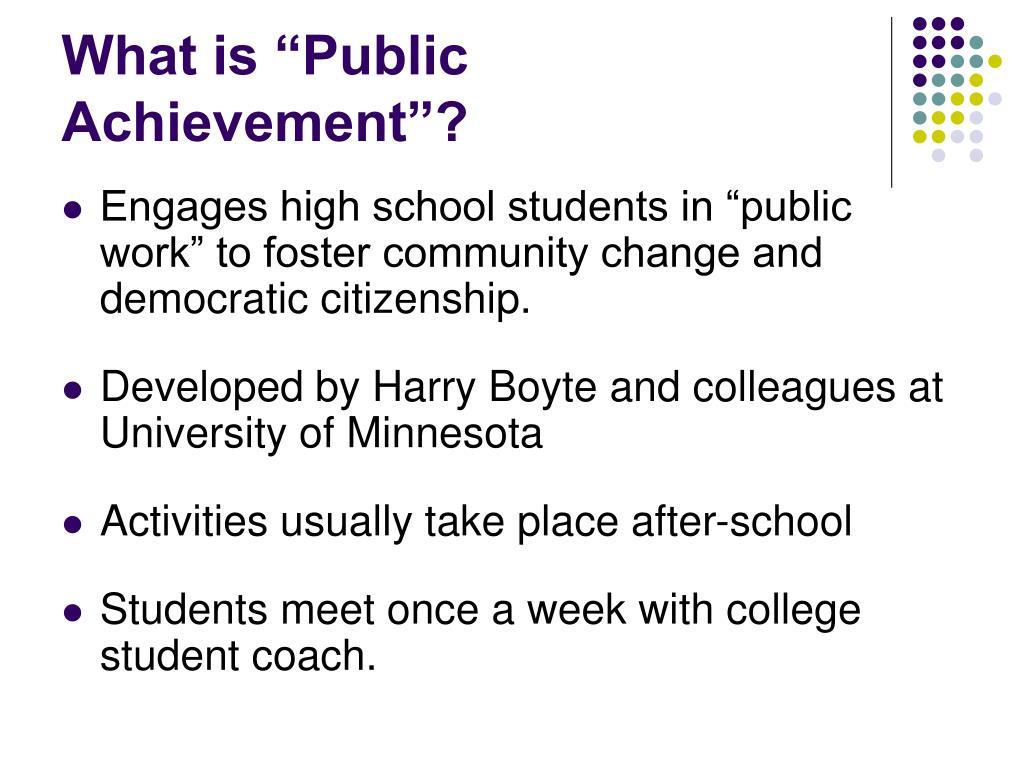 "What is ""Public Achievement""?"