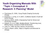 youth organizing manuals with topic conceptual research planning model