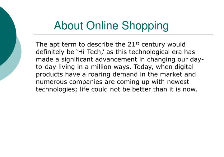 About Online Shopping