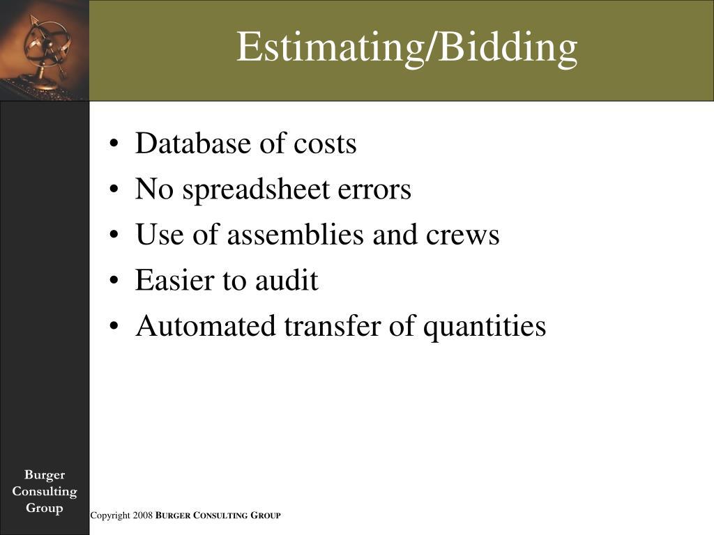 Estimating/Bidding