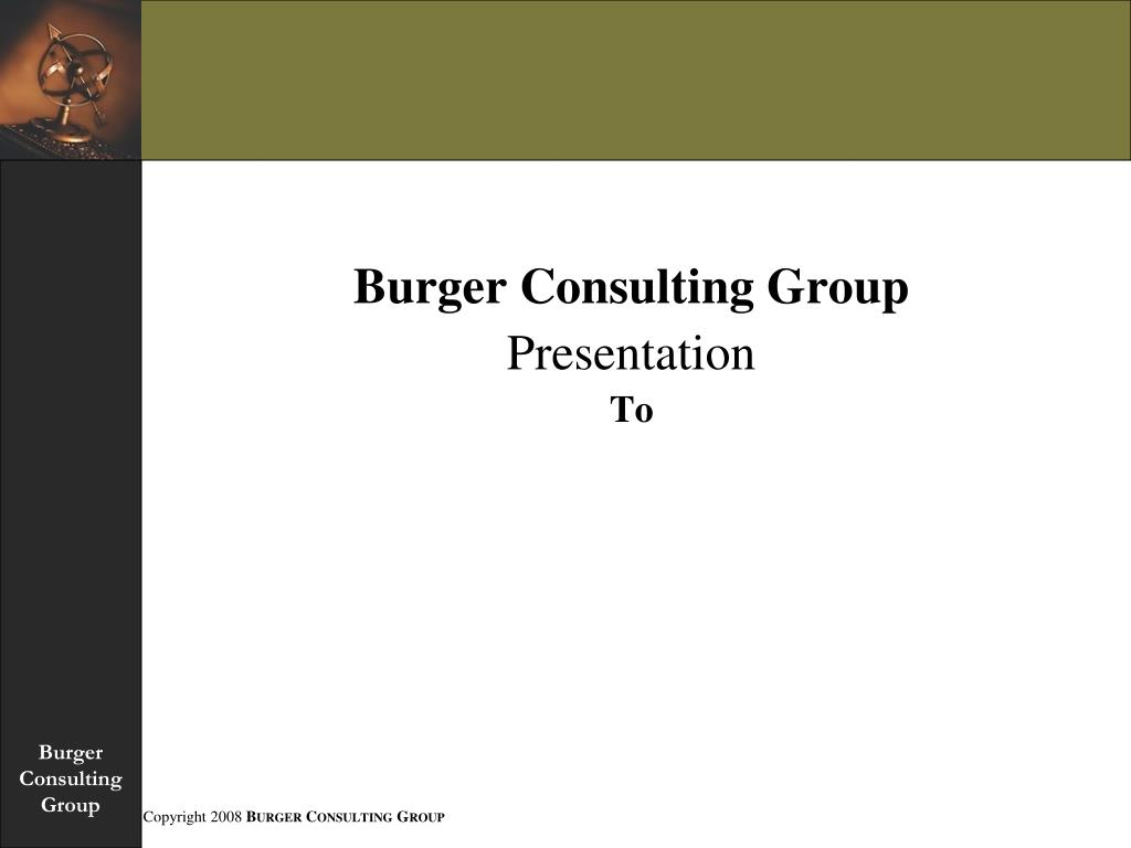 Burger Consulting Group