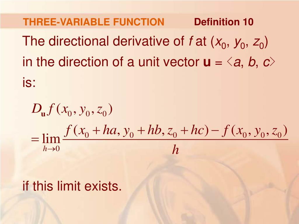 THREE-VARIABLE FUNCTION
