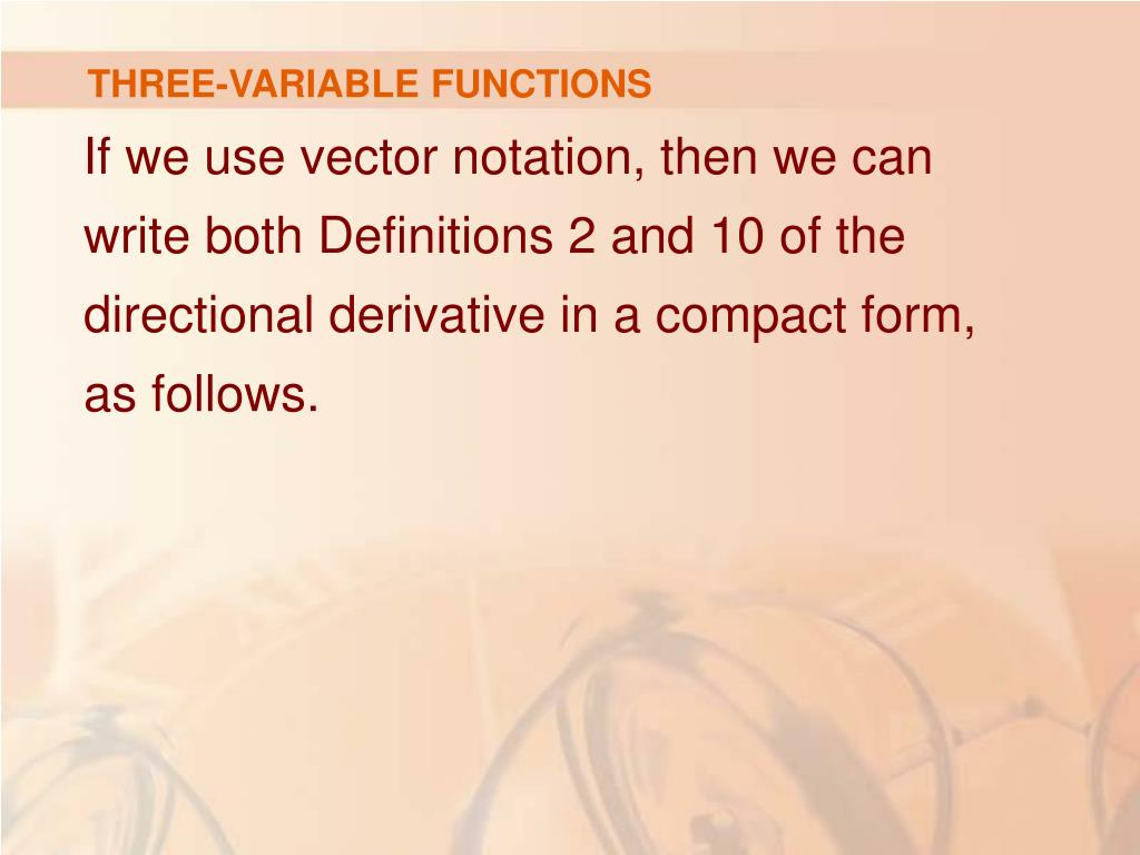 THREE-VARIABLE FUNCTIONS