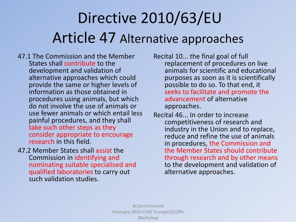 Directive 2010/63/EU
