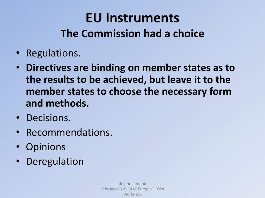 EU Instruments