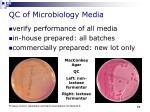 qc of microbiology media