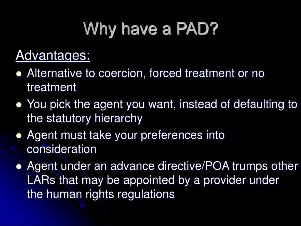 Advantages: