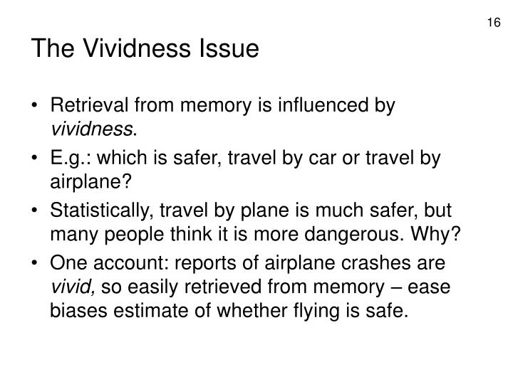The Vividness Issue