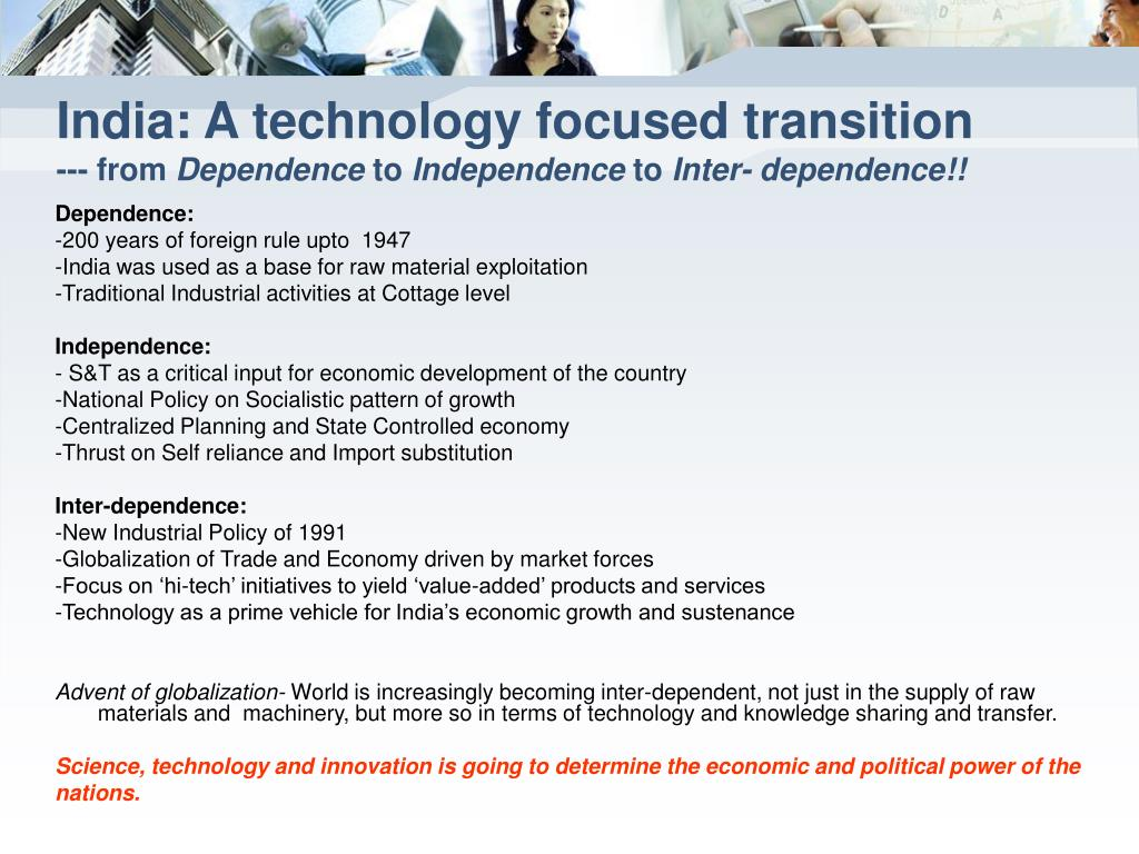 India: A technology focused transition