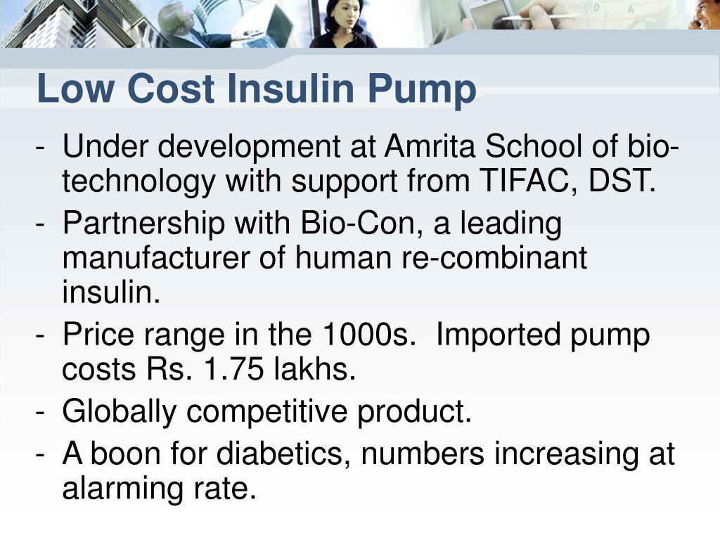 Low Cost Insulin Pump