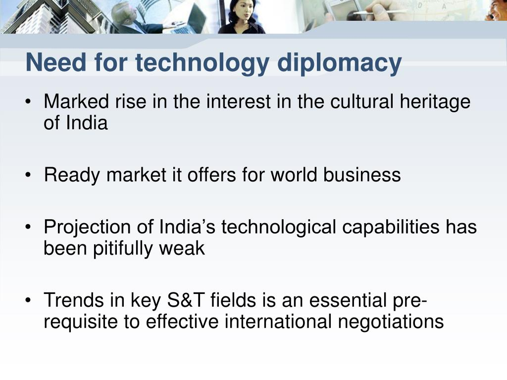 Need for technology diplomacy