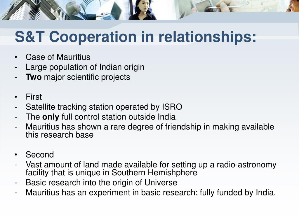 S&T Cooperation in relationships: