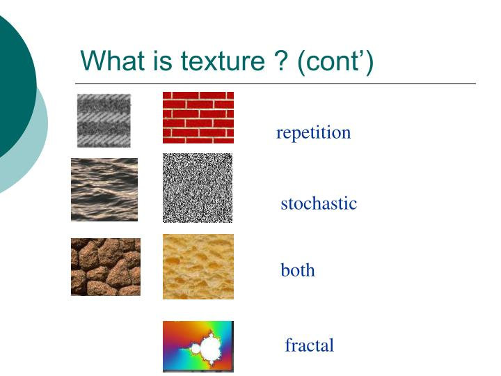 What is texture cont