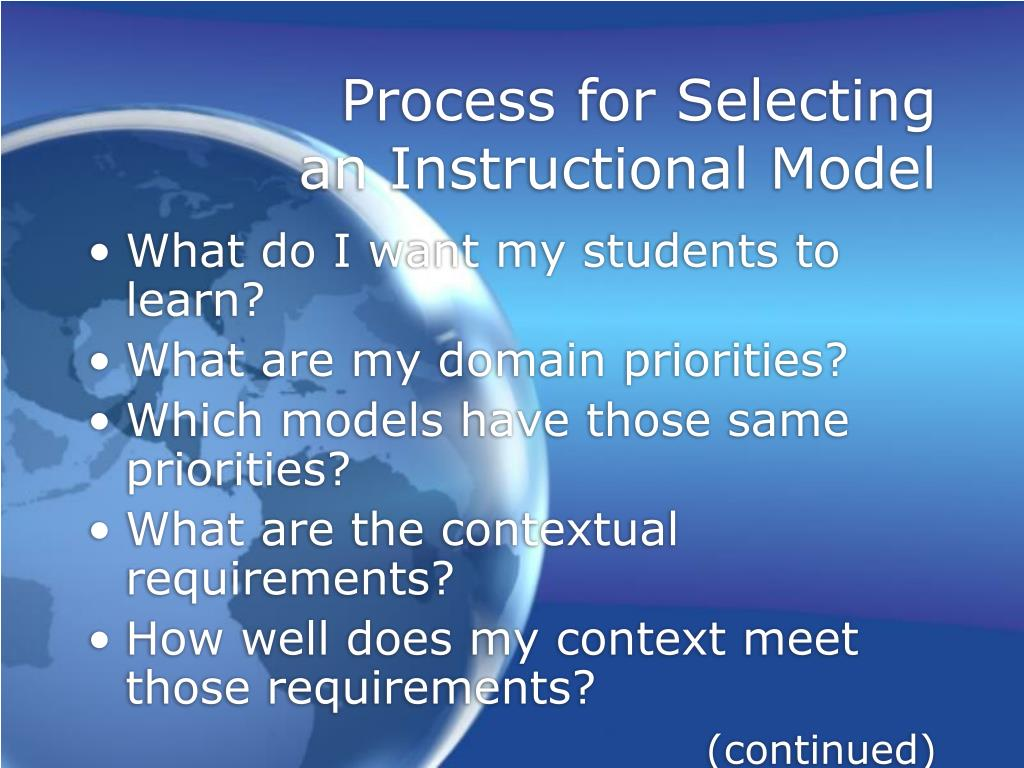 Process for Selecting