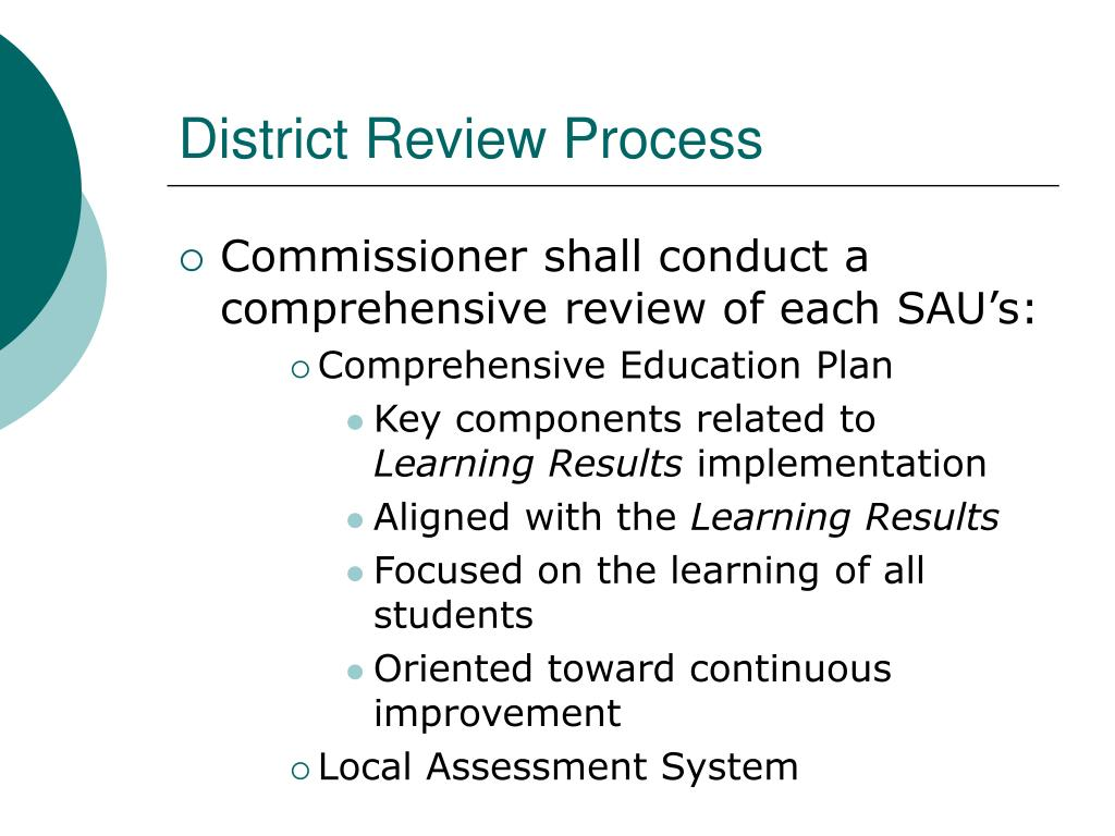 District Review Process