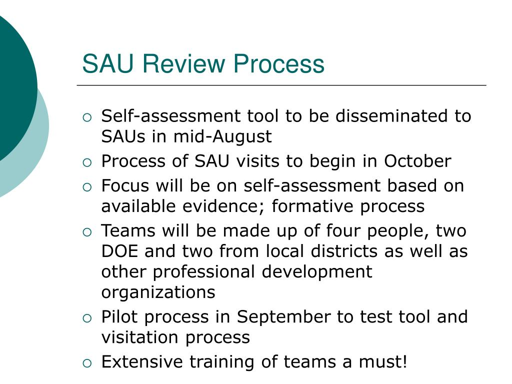 SAU Review Process