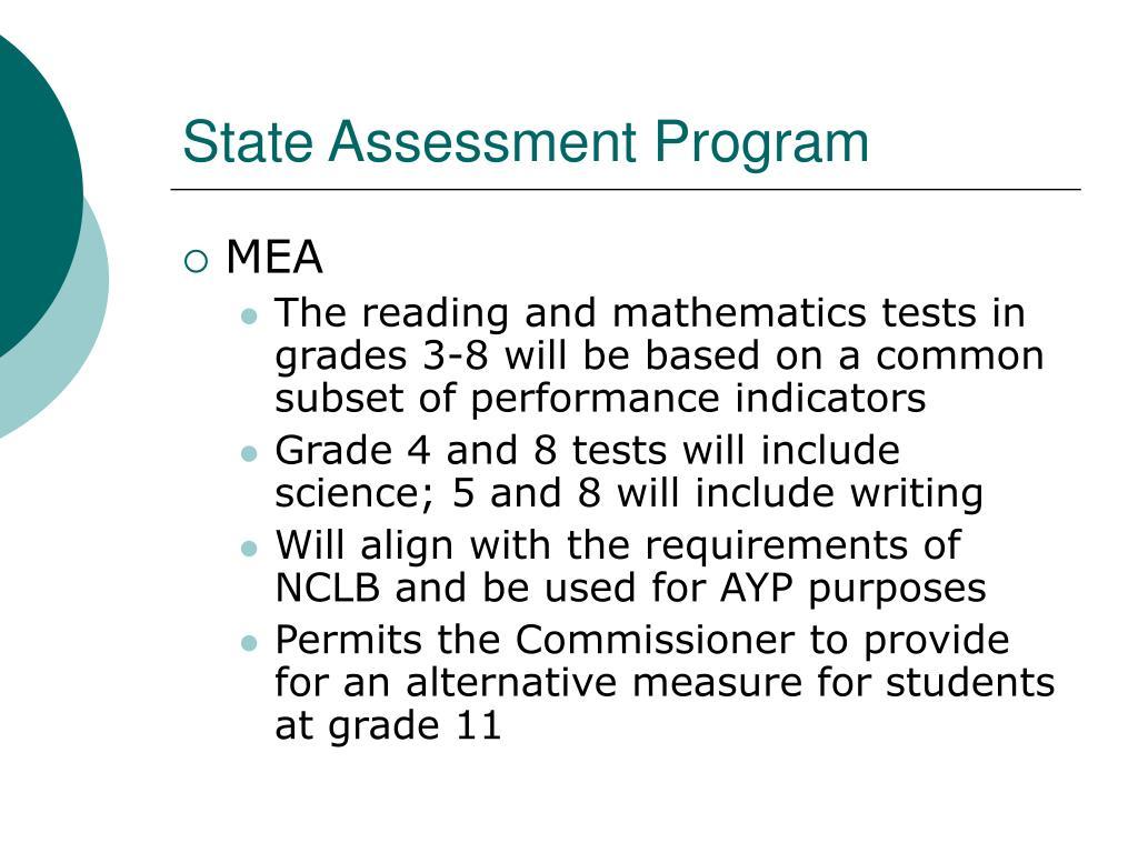 State Assessment Program