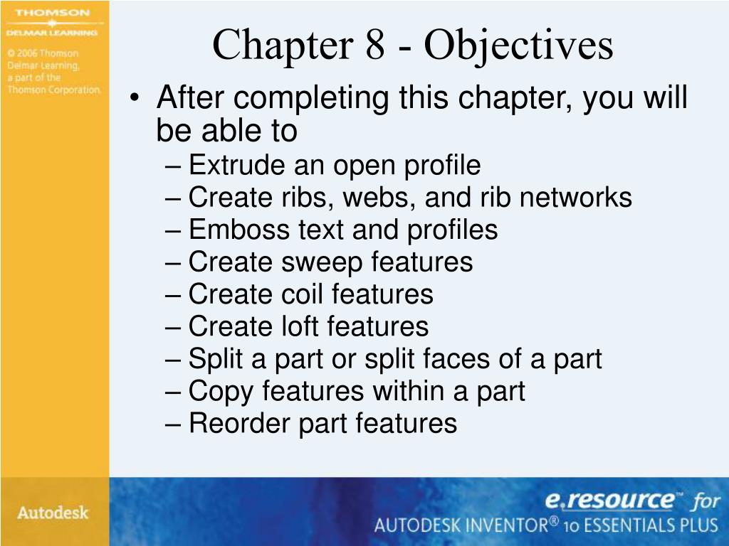 Chapter 8 - Objectives