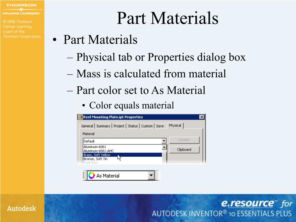 Part Materials