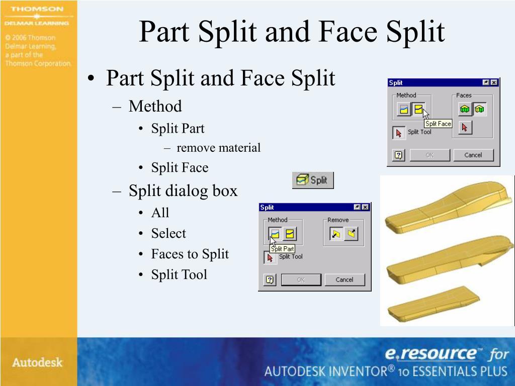 Part Split and Face Split